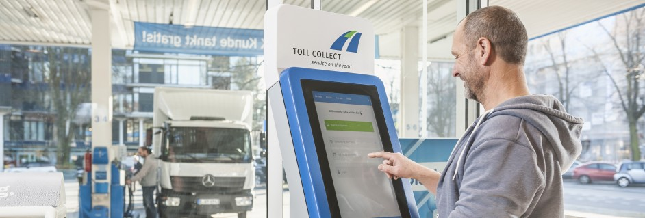 Toll Collect | Manual log-on at a toll terminal